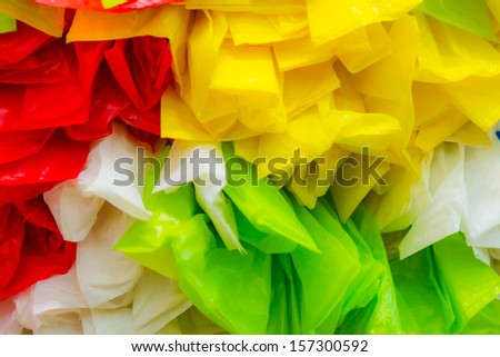 colorful plastic bag as background - stock photo