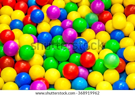 colorful plastic ball in play ground.