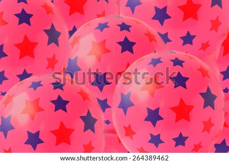 Colorful plastic balls on children's playground, Beautiful background. - stock photo