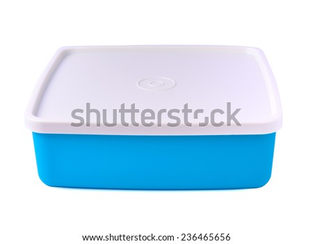colorful plastic container for storing food  - stock photo