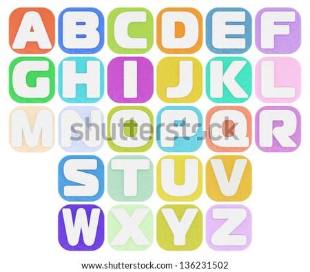 Colorful plasticine alphabet - stock photo