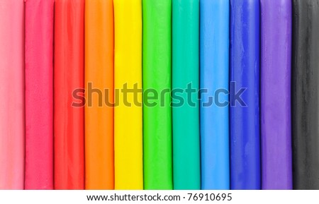 Colorful plasticine background - stock photo