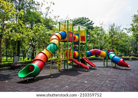 Colorful playground - stock photo