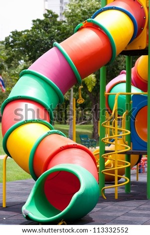 Colorful playground for children - stock photo