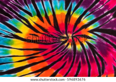 Colorful Psychedelic Tie Dye Design Swirl Pattern Background