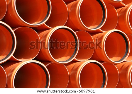 Colorful PVC pipes abstract. Industrial object concept. - stock photo