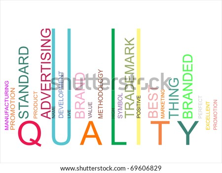 colorful quality bar code - stock photo