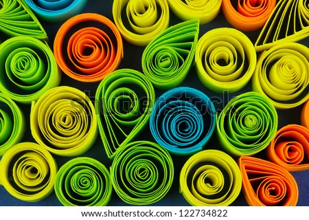 Colorful quilling close-up - stock photo