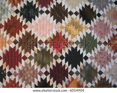 colorful quilted design - stock photo