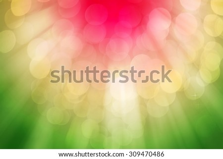 Colorful ray lights bokeh glitter defocused abstract background