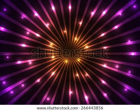 Colorful rays and lights background.  - stock photo