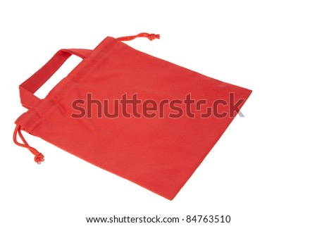 Colorful red cotton bag