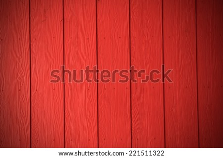 Colorful red wood panels background - stock photo