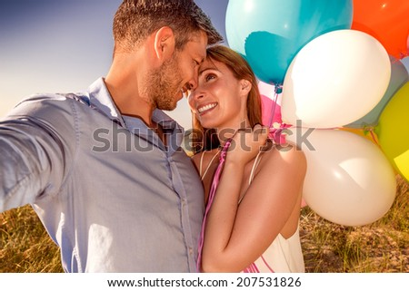 colorful relationship of younger adults - stock photo