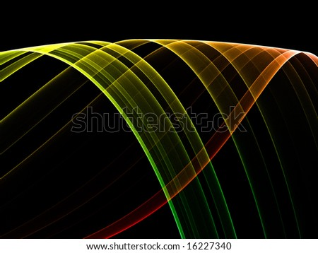 Colorful ribbon on black background