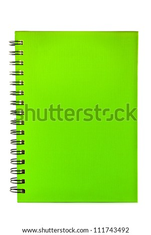 colorful ring binder book or notebook isolated on white background