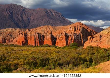 Colorful rock formation, El Cafayate, Salta, Argentina - stock photo