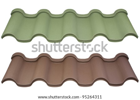 colorful roof metal - stock photo