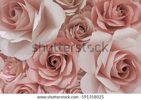 Colorful Rose Paper Flowers Texture Background Stock Photo ...