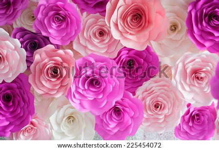 colorful roses - stock photo