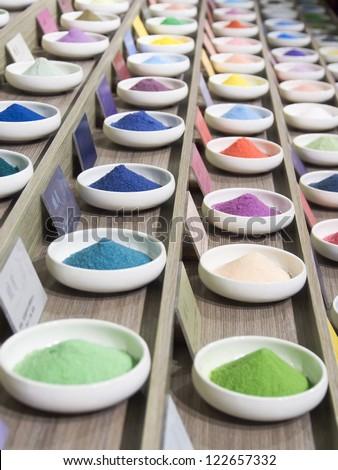 colorful salt - stock photo