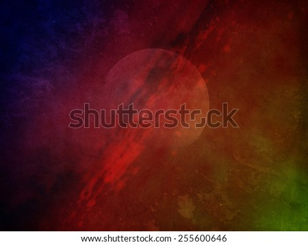 Colorful science fiction outer space background. - stock photo