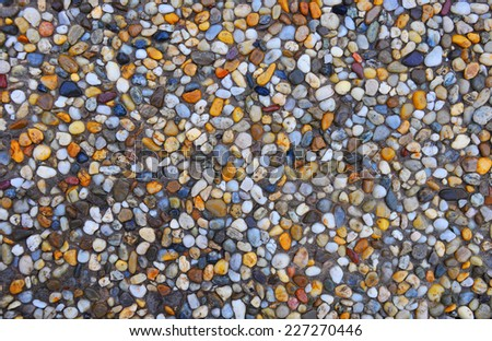 Colorful scrubbed tiles background - stock photo