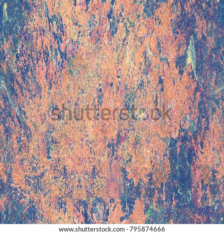 Colorful Seamless Grunge Pattern. Abstract Messy Painted Antique Texture. Modern Futuristic Wall Backdrop For Background, Wallpaper, Banner With Copy Space. Close Up Square Image