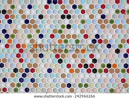 colorful seamless mosaic tiles background - stock photo