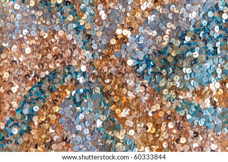 Colorful sequined surface texture - stock photo