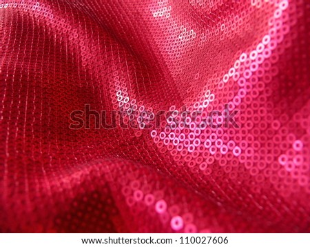 Colorful sequined textile. Pink sequins. More of this motif & more textiles and backgrounds in my port. - stock photo