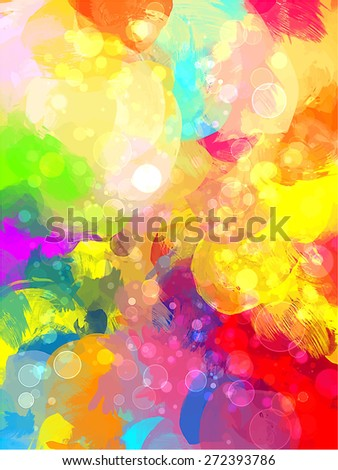 Colorful shine brush strokes background. Raster version - stock photo
