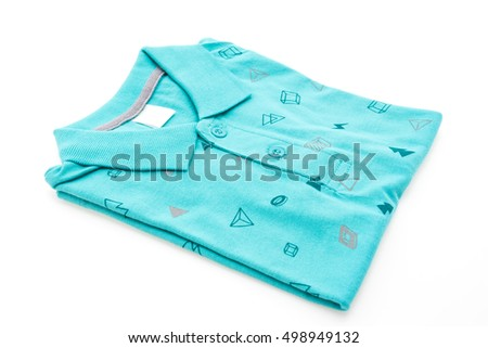 Colorful Shirt and Clothes isolated on white background