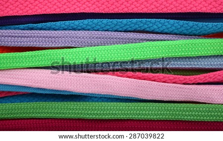Colorful shoelaces - stock photo