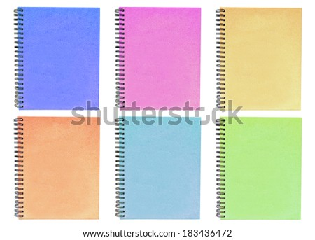 colorful sketch books isolated
