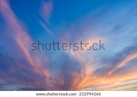 colorful sky - stock photo