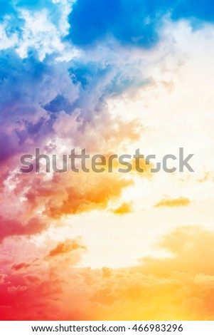 Colorful sky.abstract background.sky pink and blue colors
