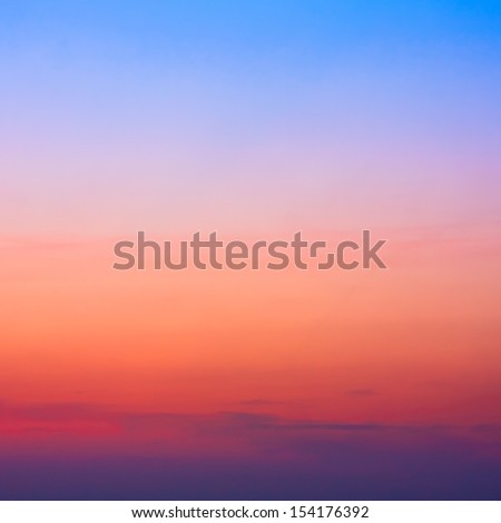 Colorful sky after the sunset. Natural Sky Background. - stock photo