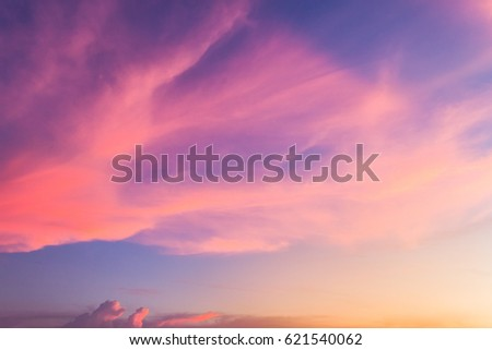 colorful sky in the evening