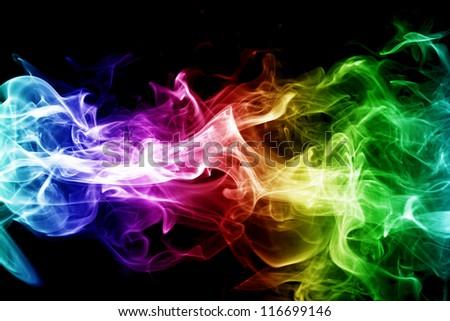 Colorful smoke - stock photo