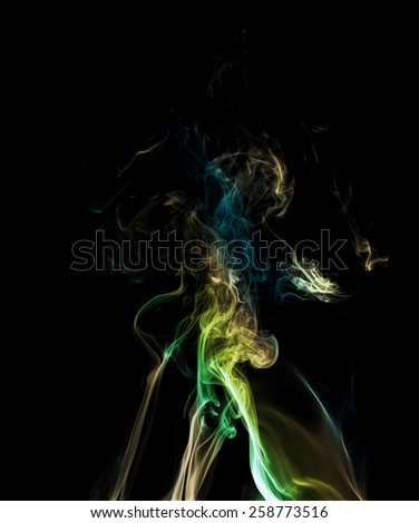 Colorful smoke - stock photo