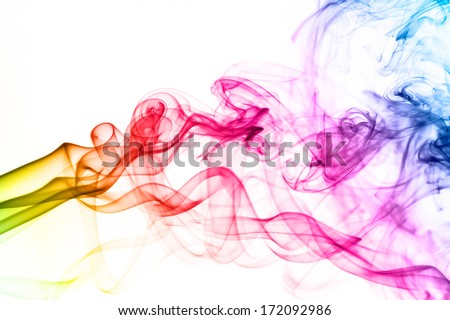 Colorful smoke clouds close up. Whole background. - stock photo