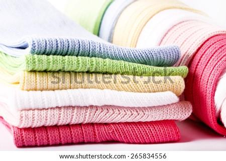 colorful socks - stock photo