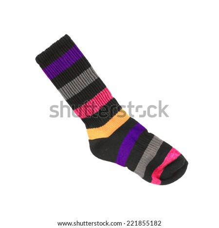 colorful socks isolated on a white background - stock photo