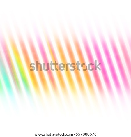 Colorful Soft Lines Backdrop with Shades of Pink Yellow Orange and Blue on White - High resolution illustration for graphic design or background use.