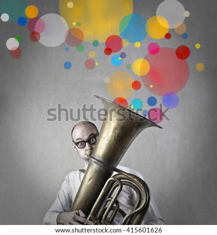 Colorful sounds - stock photo
