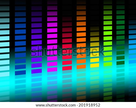 Colorful Soundwaves Background Showing Musical Songs And DJ
