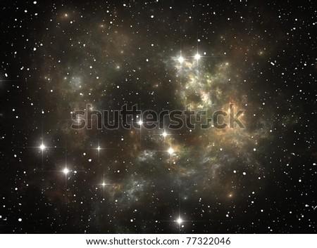 Colorful space star nebula - stock photo