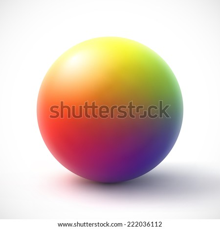 Colorful sphere on white background.