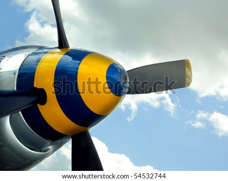 Colorful spinner nose cone - stock photo